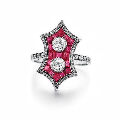 SOLD - An Art Deco Ruby & Diamond Ring