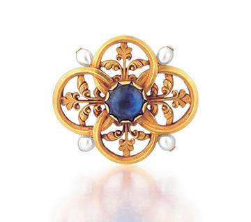 SOLD - An Antique French Renaissance Revival Brooch by Wiese