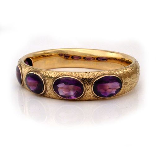 SOLD - An American Victorian Amethyst Bracelet by Bailey, Banks & Biddle