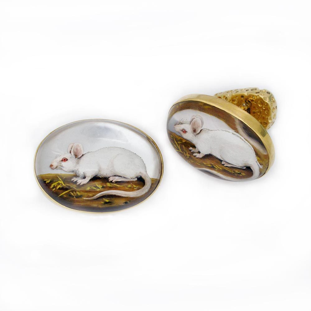 SOLD - A Pair of 19th Century Essex Crystal Oval Cufflinks