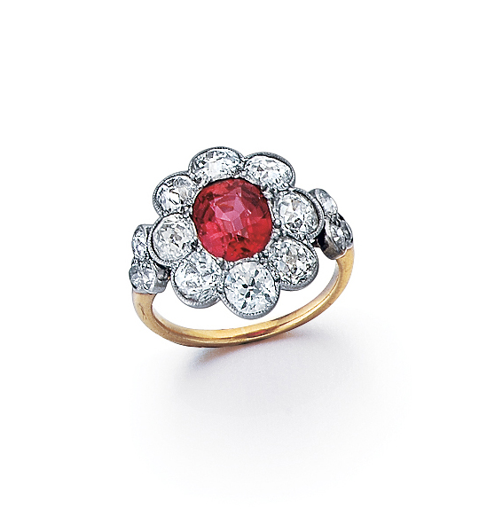An Antique Edwardian Ruby And Diamond Ring