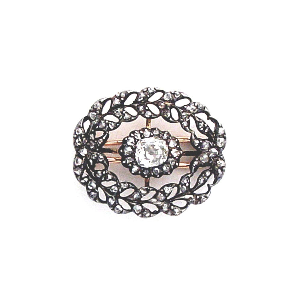 A George III Antique English Diamond Brooch