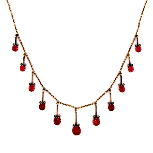 A Victorian Red Spinel Necklace