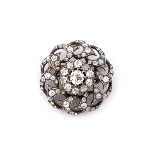 A Victorian Antique English Diamond Brooch