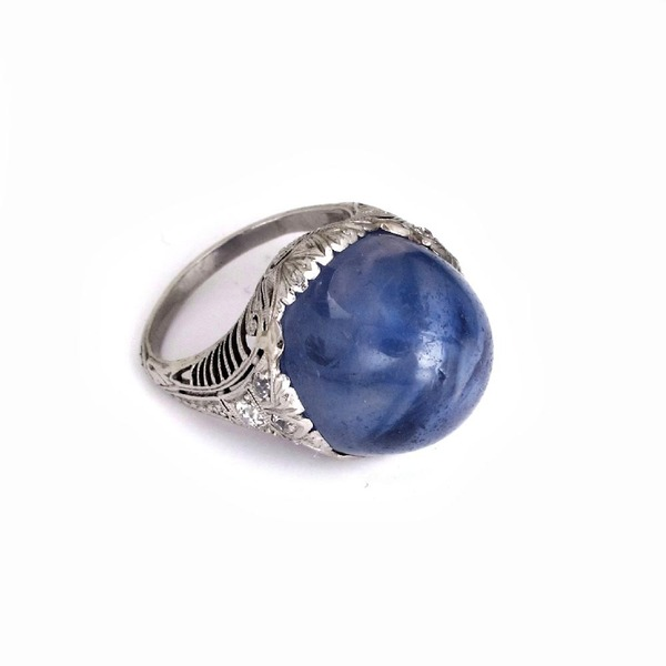 A Star Sapphire Ring