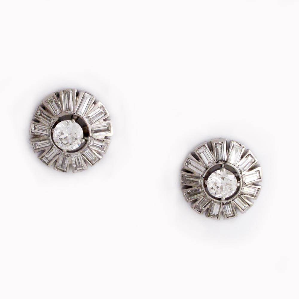 SOLD - A Pair of Diamond Earrings