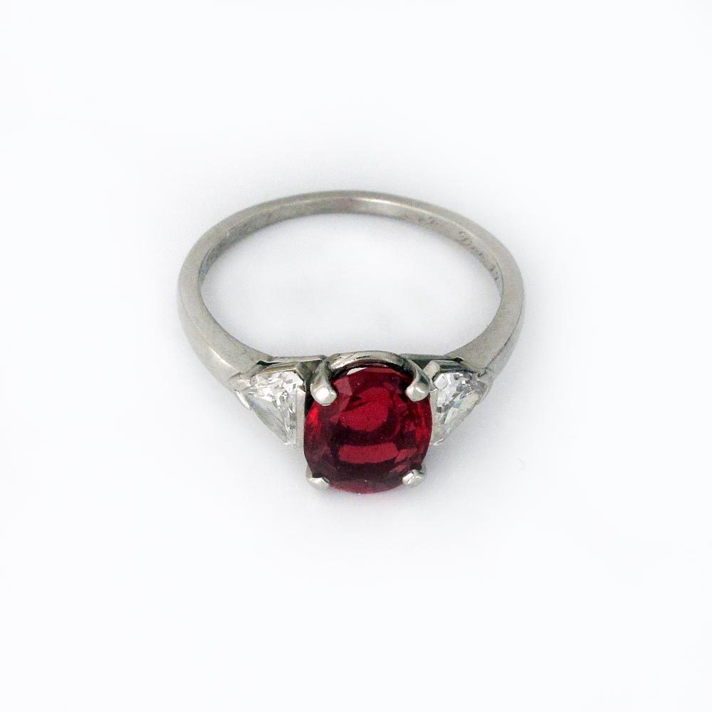 A Spinel and Diamond Ring by Raymond Yard
