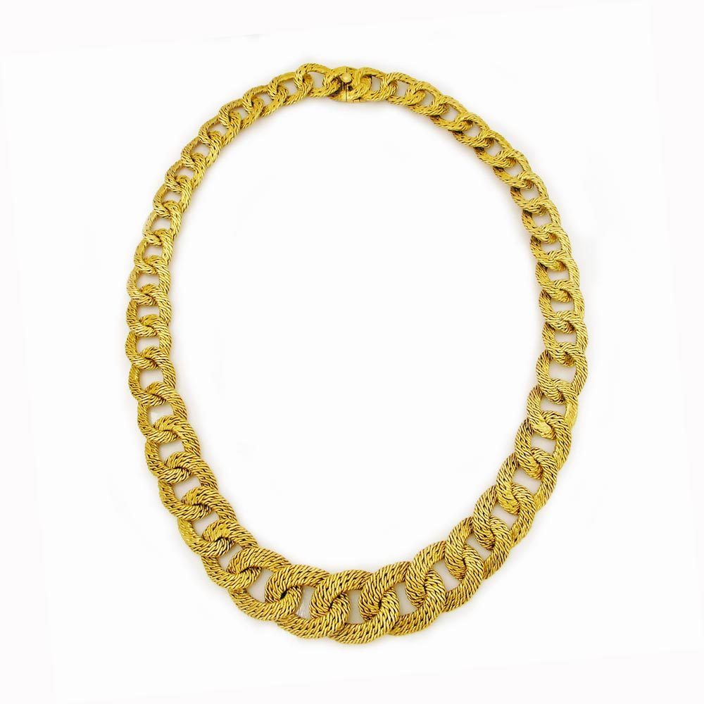 SOLD- An 18K Gold Link Necklace by VCA