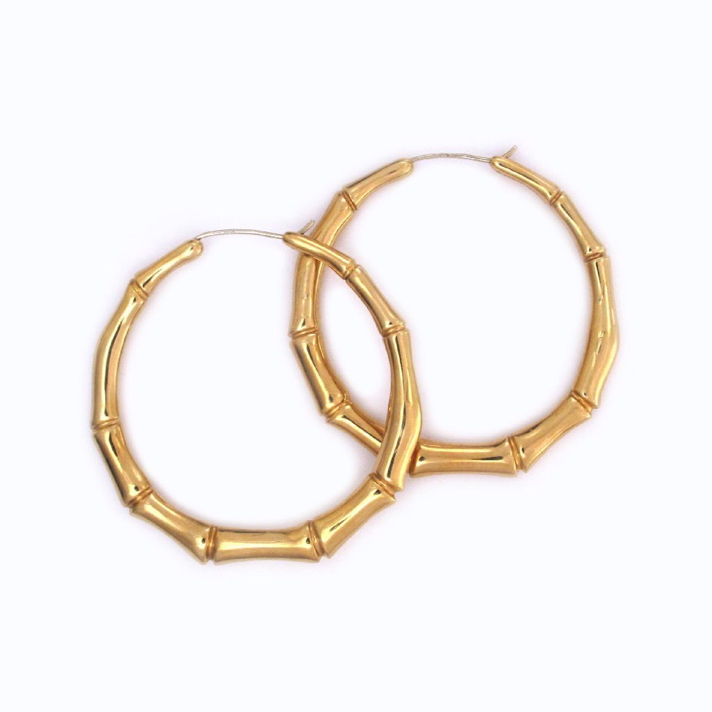 SOLD - A Pair of Italian Estate Gold Earrings