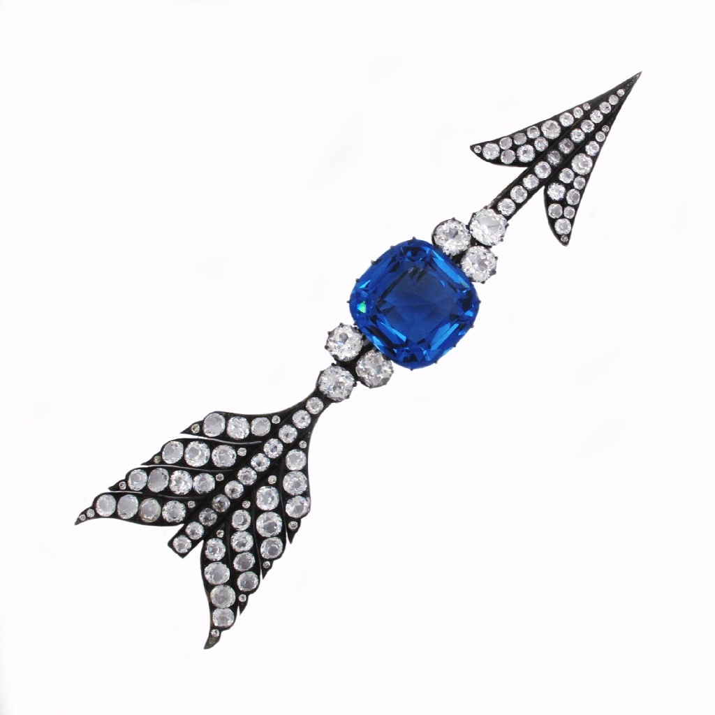 SOLD - An Antique Russian Paste Arrow Brooch