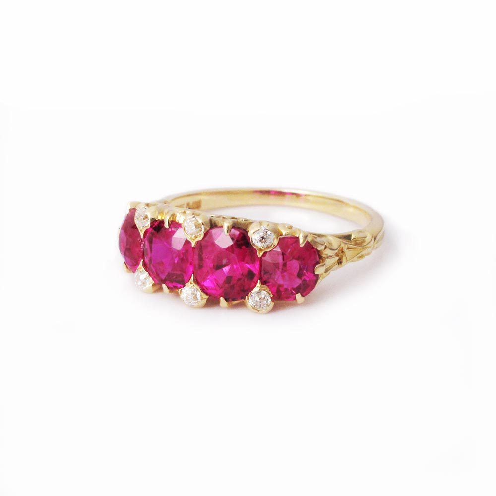 An American Victorian Ruby Ring