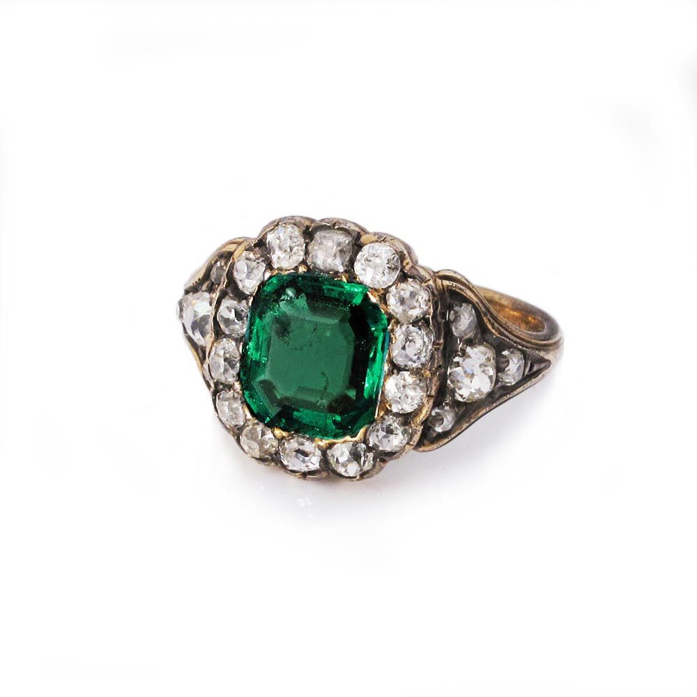 A Fine Victorian Emerald Cluster Ring