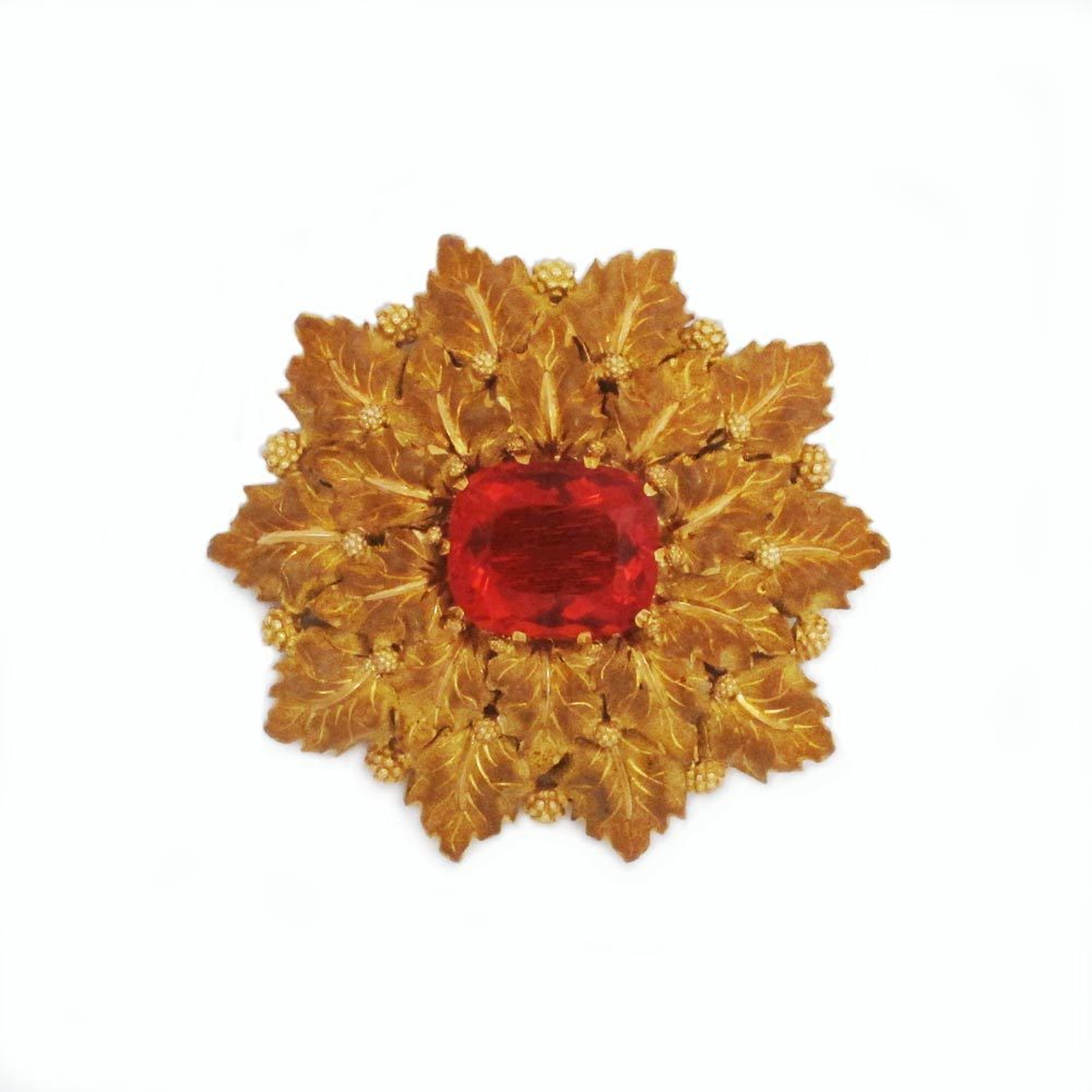 SOLD - An Italian Fire Opal Brooch