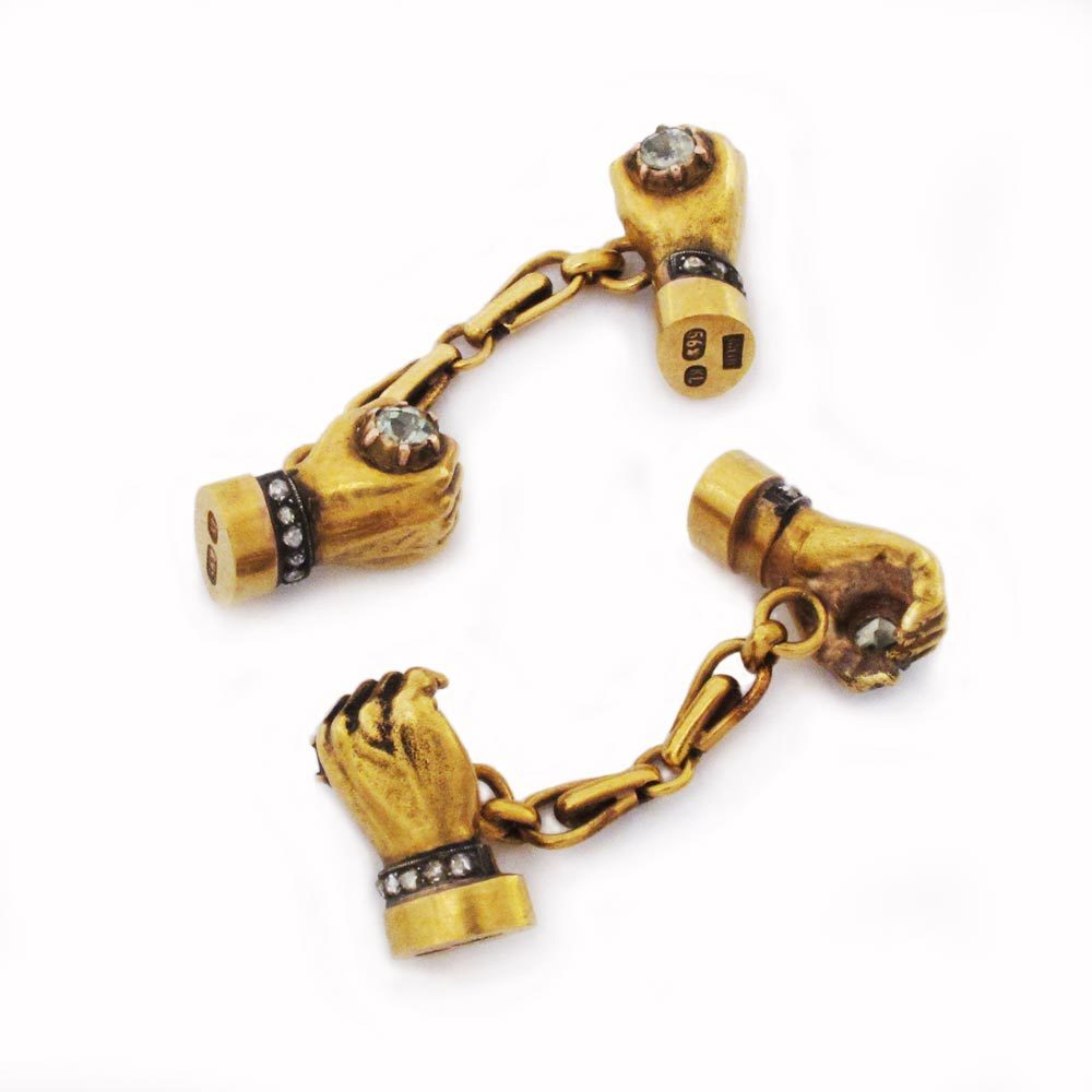 SOLD - A Pair of Antique Russian Gold Cufflinks