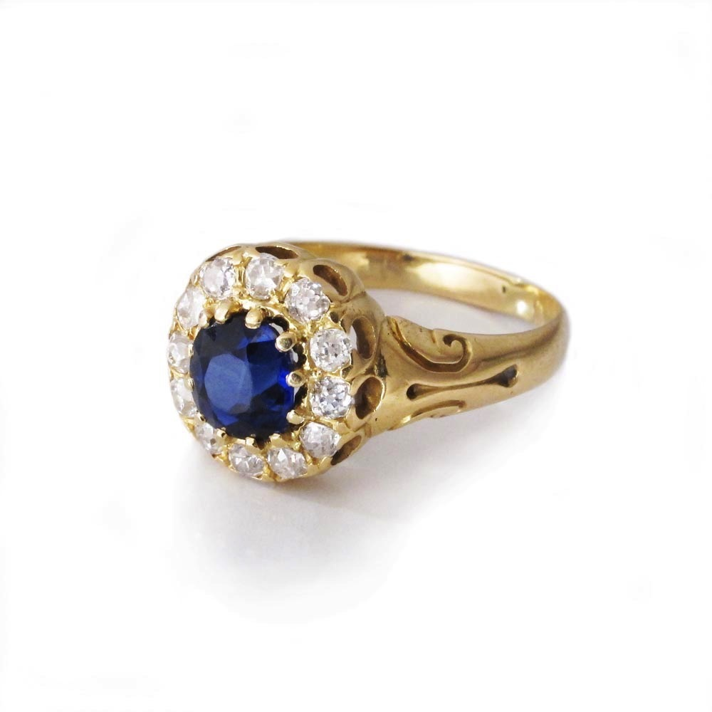 SOLD - An Antique Sapphire & Diamond Ring