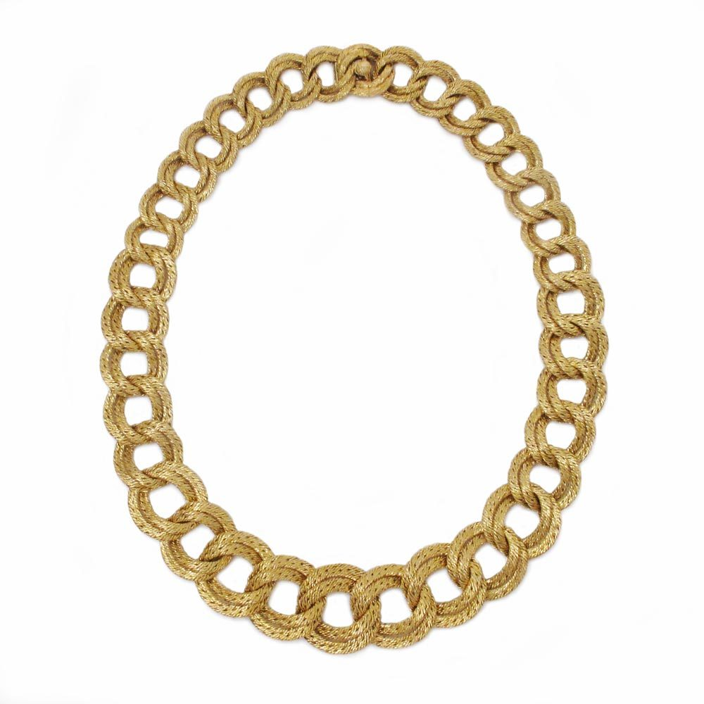 SOLD - An Lenfant French Gold Necklace