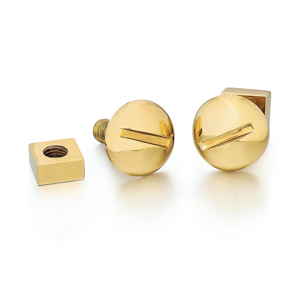 A Pair of American Estate Yellow Gold Cufflinks