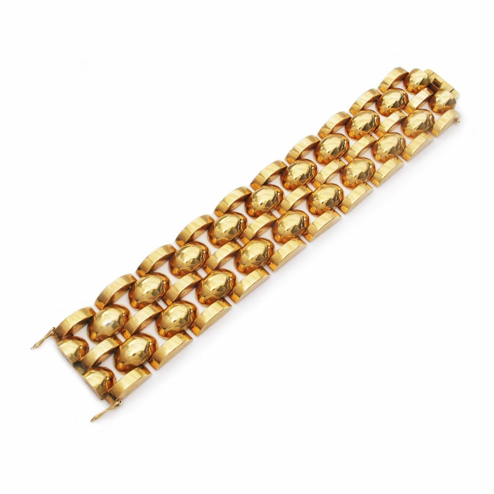 A Spanish Retro 18K Gold Bracelet