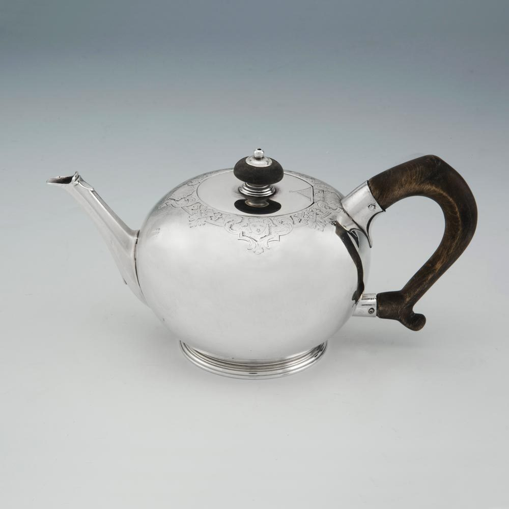 SOLD - A George II Antique English Silver Teapot