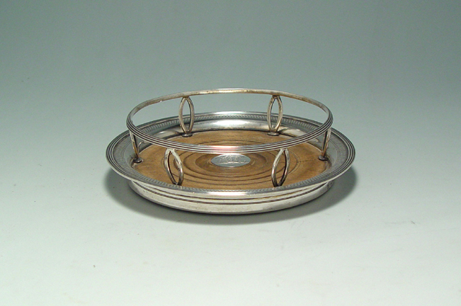 SOLD - An Unusual George III Antique English Silver Coaster