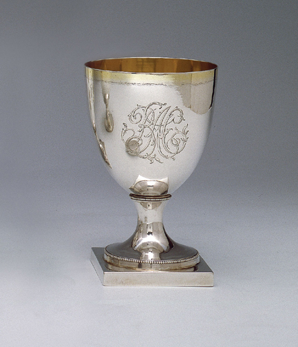 SOLD - A Fine Early American Silver Goblet