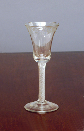 SOLD - A Georgian Antique English Airtwist Wine Glass