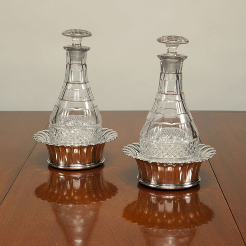 SOLD - A Pair of Antique Georgian English Glass Decanters
