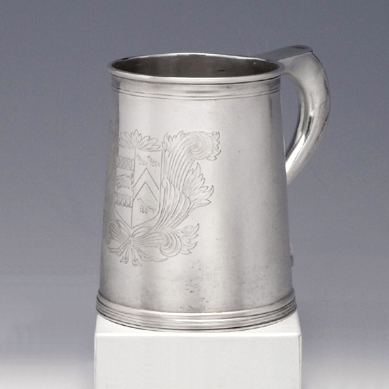 SOLD - A William and Mary Antique English Silver Mug