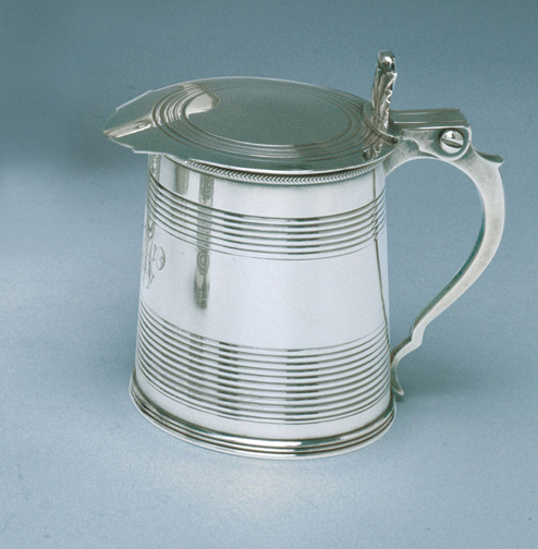 SOLD - A William IV Child's Antique English Silver Tankard