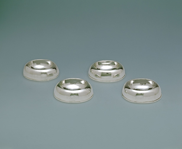 SOLD - A Set of Four George II Antique Irish Silver Trencher Salts