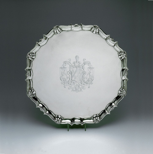 SOLD - A George II Antique English Silver Salver