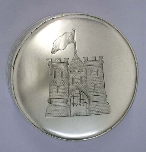 SOLD - A Rare Large George III Antique Irish Provincial Silver Freedom Box