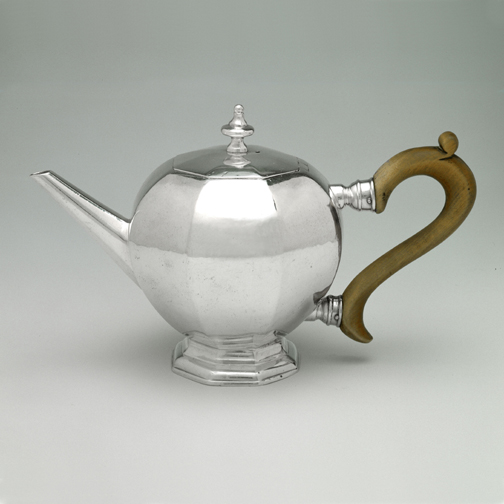 SOLD - An Exceptionally Rare George I Antique Scottish Silver Octagonal Bullet Teapot