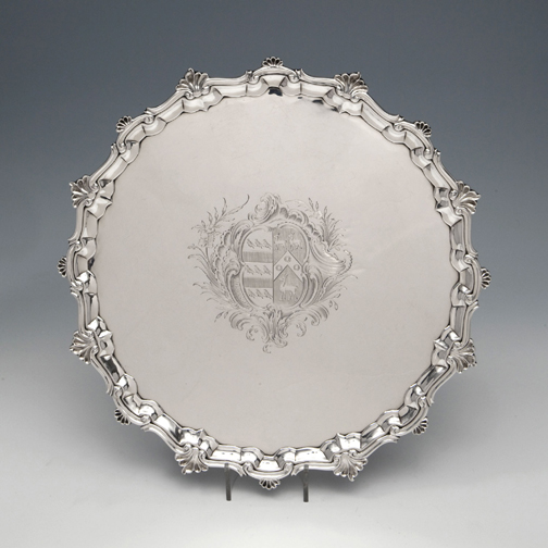 SOLD A George II Antique English Silver Salver