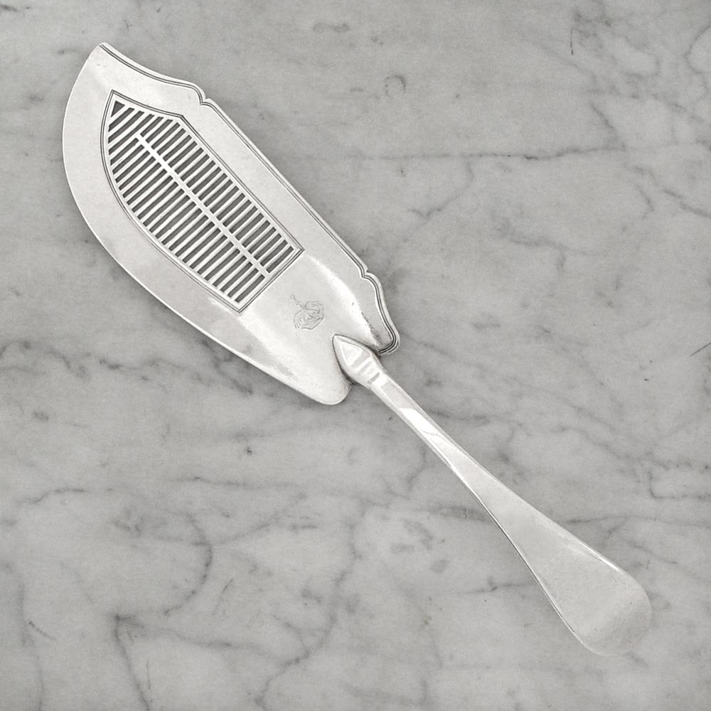SOLD - A George III Antique English Silver Fish Slice