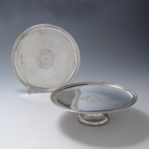 SOLD - A Pair of Queen Anne Antique English Silver Tazzas