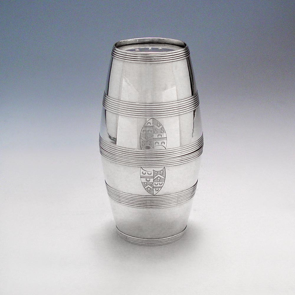 SOLD - A George III Antique English Silver Double Beaker