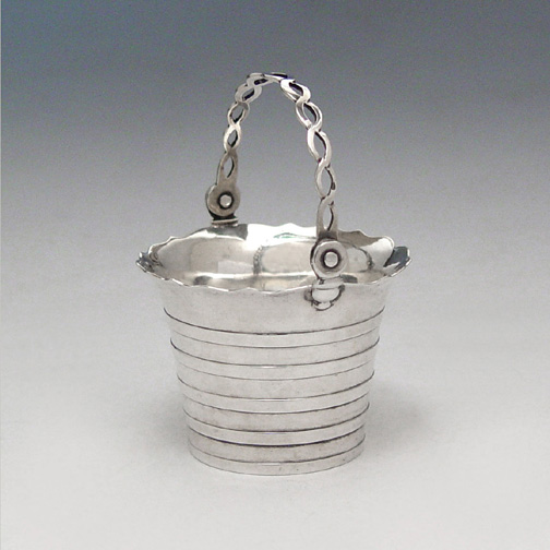 SOLD - A George II Antique English Silver Cream Pail