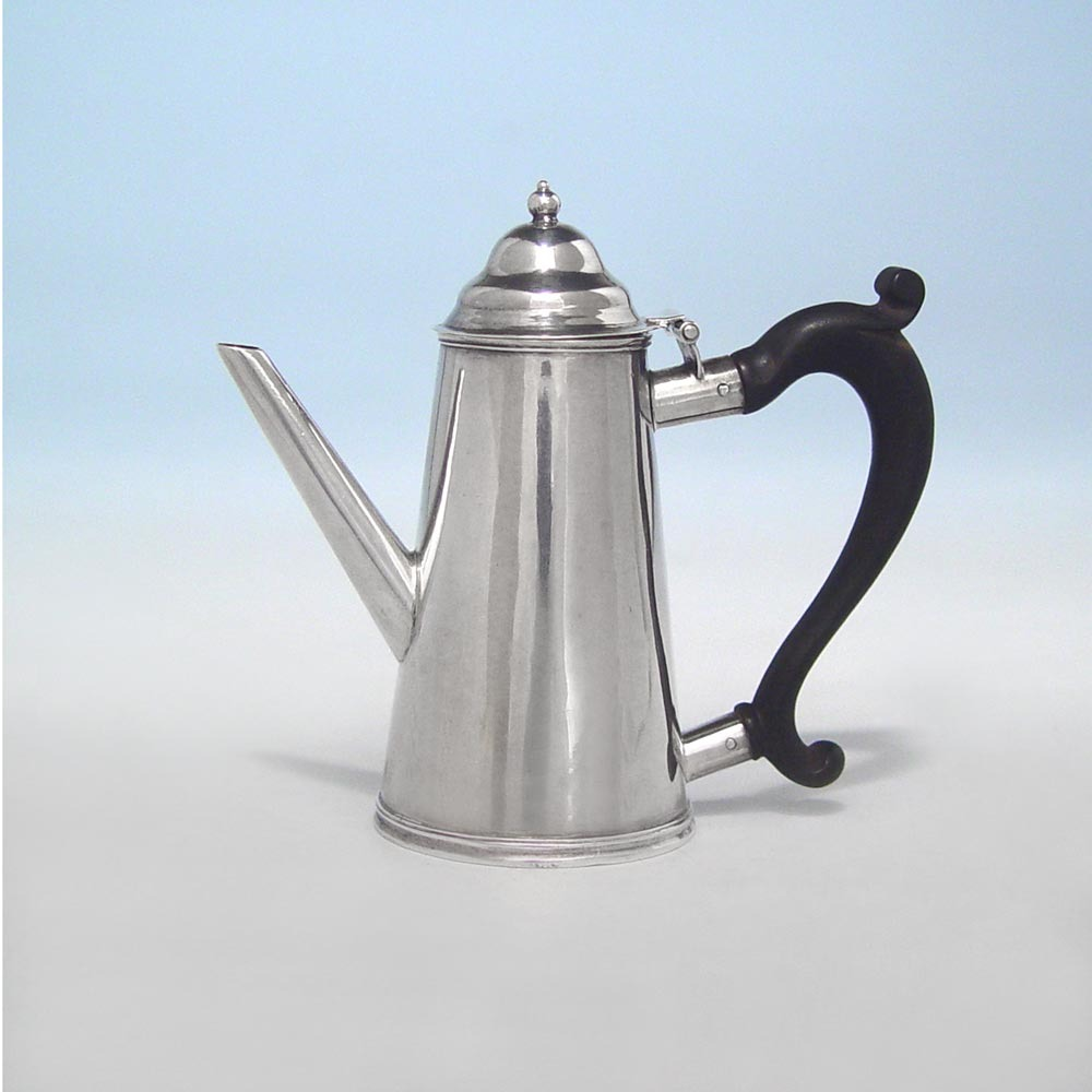 SOLD - A Miniature George I Antique English Silver Coffee Pot
