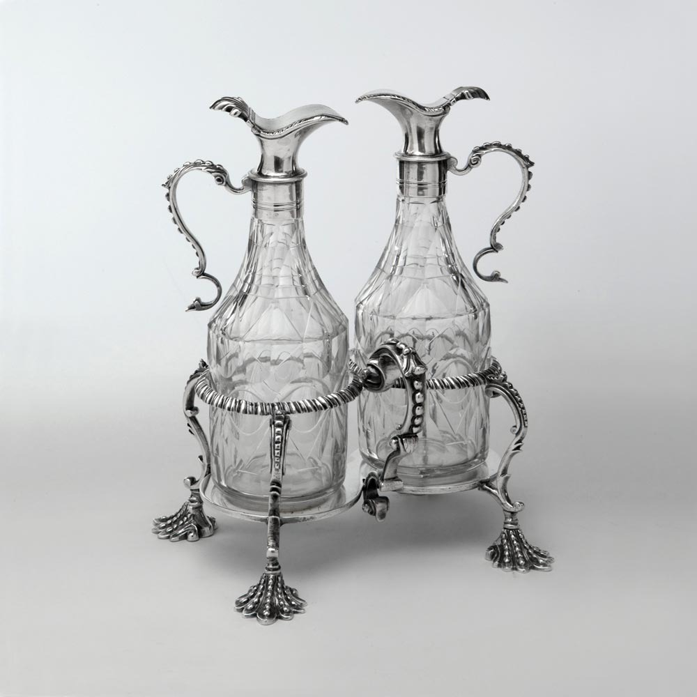 SOLD - A George III Antique English Silver Cruet