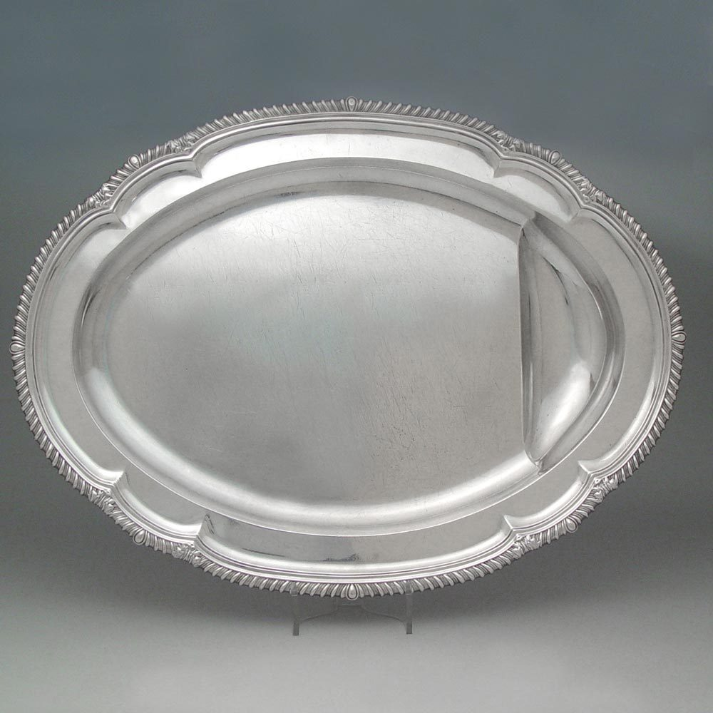 An Unusual George III Antique English Silver Meat Dish