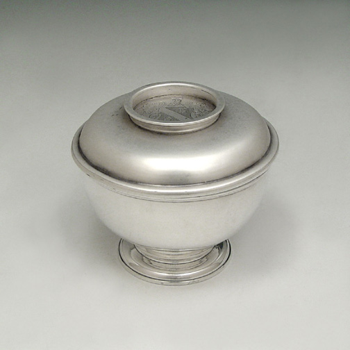 SOLD - A Fine George I Antique English Silver Sugar Bowl and Cover