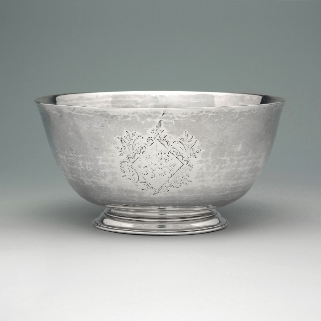 A George II Antique English Silver Bowl