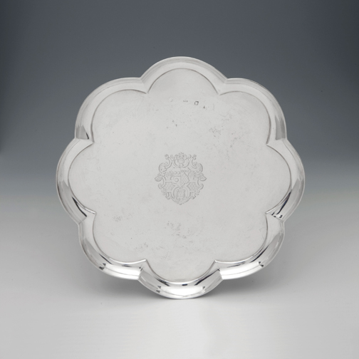 SOLD - A George I Antique English Silver Octafoil Salver