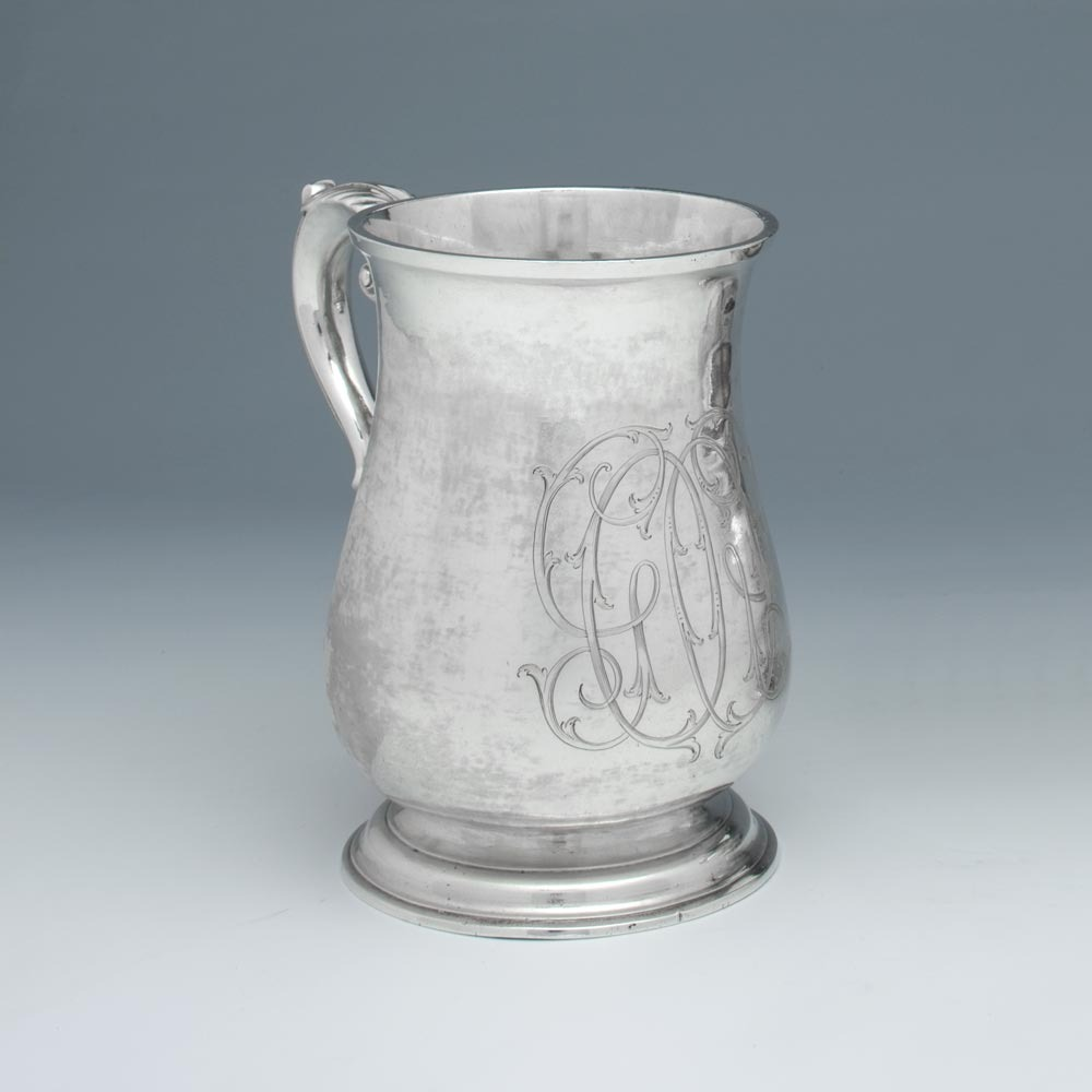 SOLD - An Early American Antique Silver Cann