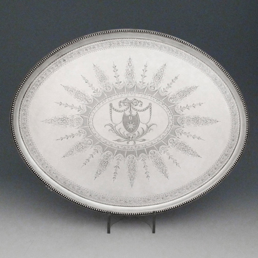 SOLD A George III Antique English Silver Salver