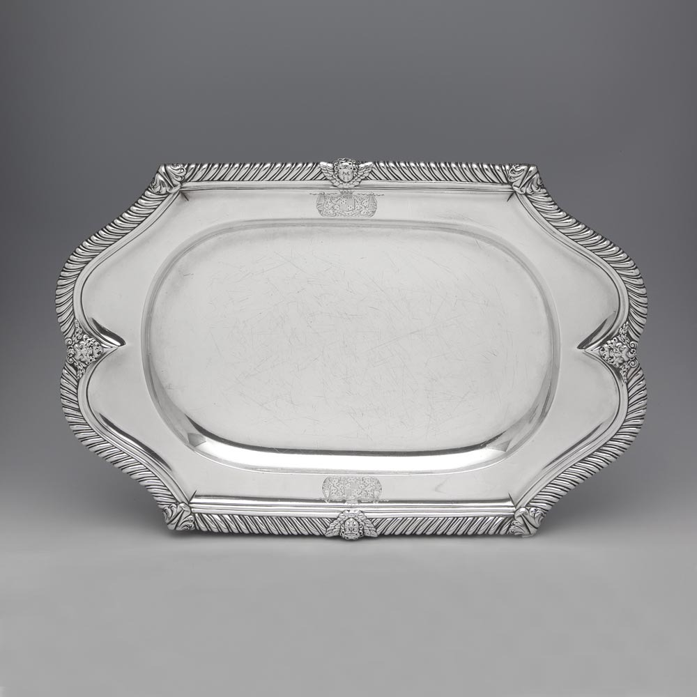 SOLD - A George IV Antique English Silver Meat Dish