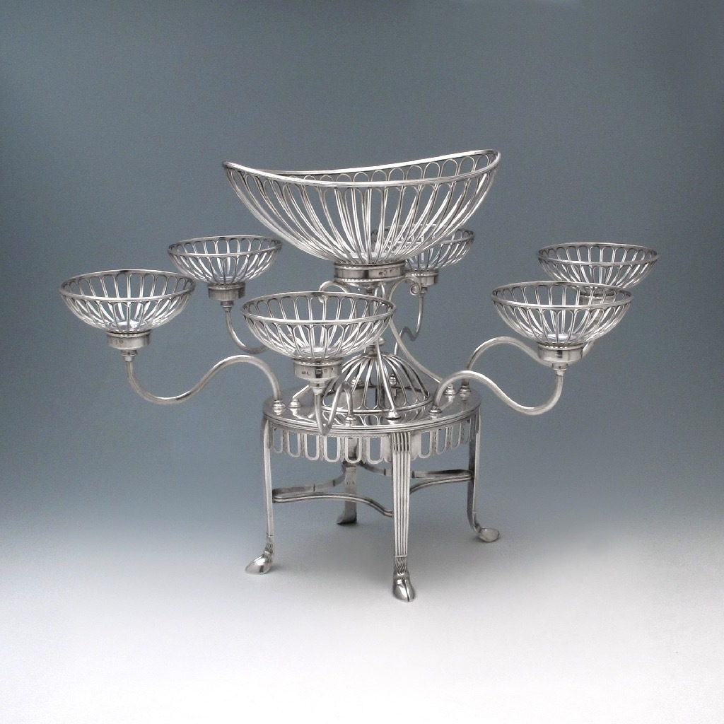 SOLD - A George III Antique English Silver Epergne
