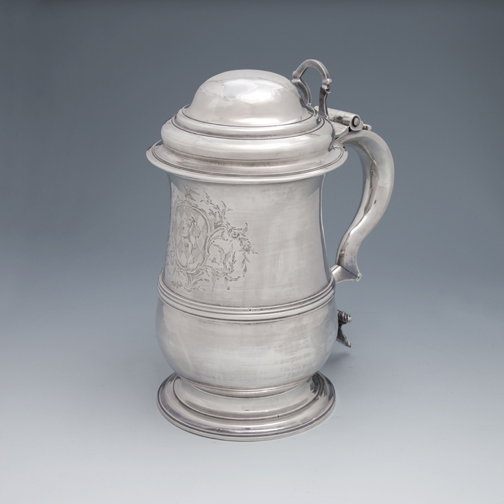 SOLD A George III Antique English Silver Tankard
