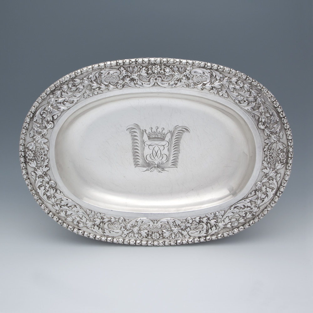 SOLD - A Rare Charles II Antique English Silver Basin